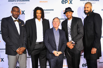 Amare Stoudemire Carmelo Anthony Epix Premiere of 'In the Moment'