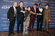 (L-R) Producer Matt Tolmach, director Marc Webb, actress Emma Stone, actors Andrew Garfield, Jamie Foxx and Dane DeHaan attend 'The Amazing Spider-Man 2: Rise Of Electro' Rome Premiere at The Space Moderno Cinema on April 14, 2014 in Rome, Italy.