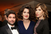 Head of Comedy, Amazon Studios Joe Lewis, actors Gaby Hoffmann, and Carrie Brownstein attend Amazon's Golden Globe Awards Celebration at The Beverly Hilton Hotel on January 10, 2016 in Beverly Hills, California.