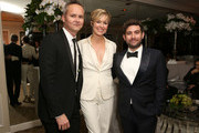 (L-R) Head of Amazon Studios, Roy Price, actress Melora Hardin, and Head of Comedy, Amazon Studios Joe Lewis attend Amazon's Golden Globe Awards Celebration at The Beverly Hilton Hotel on January 10, 2016 in Beverly Hills, California.