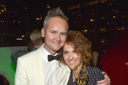 Head of Amazon Studios Roy Price (L) and executive producer/writer Jill Soloway attend Amazon Prime's Emmy Celebration at The Standard Hotel on September 20, 2015 in Los Angeles, California.