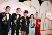 (L-R) Michael Zegen, Daniel Palladino, Amy Sherman-Palladino, Alex Borstein and Rachel Brosnahan attend the Amazon Prime Video post Emmy Awards party at Cecconi's on September 17, 2018 in West Hollywood, California.