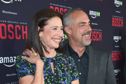 Actress Mimi Rogers and actor Titus Welliver attend Amazon Red Carpet Premiere Screening For Season Two Of Original Drama Series, 'Bosch' on March 3, 2016 in Los Angeles, California.