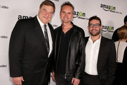 (L-R) Actor John Goodman, Director, Amazon Studios Roy Price and Joe Lewis, Head of Original Programming at Amazon Studios attend the Amazon Studios Launch Party to celebrate the premieres of their 1st original series' 'Alpha House' and 'Betas' at Boulevard3 on November 6, 2013 in Hollywood, California.