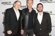 (L-R)Jonathan Alter director Roy Price, and Joe Lewis, Head of Original Programming, Amazon Studios, attend Amazon Studios Launch Party to Celebrate Premieres of their First Original Series at Boulevard3 on November 6, 2013 in Hollywood, California.