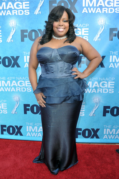 Amber Riley - 42nd NAACP Image Awards - Red Carpet