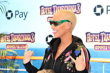 Amber Rose Columbia Pictures And Sony Pictures Animation's World Premiere Of 'Hotel Transylvania 3: Summer Vacation' - Arrivals