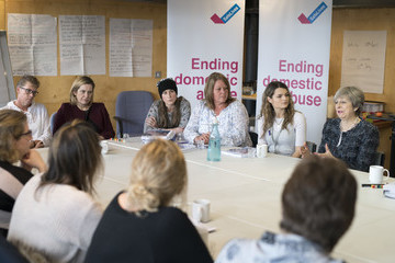 Amber Rudd Theresa May And Amber Rudd Meet Victims Of Domestic Abuse