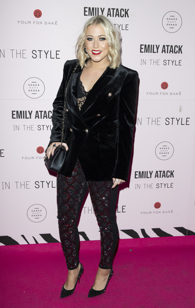Emily Atack Launches Her 'In The Style' Collection [the style collection,clothing,carpet,fashion,footwear,red carpet,tights,fashion model,leggings,lip,joint,emily atack,amelia lily,emily atack launches her,collection,england,london,libertine]