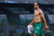 Landon Donovan of Leon reacts during the 11th round match between America and Leon as part of the Torneo Clausura 2018 Liga MX at Azteca Stadium on March 10, 2018 in Mexico City, Mexico.