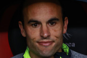 Landon Donovan of Leon gestures during the 11th round match between America and Leon as part of the Torneo Clausura 2018 Liga MX at Azteca Stadium on March 10, 2018 in Mexico City, Mexico.