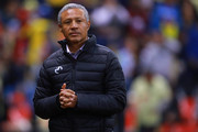 Roberto Hernandez coach of Morelia looks on during the 7th round match between America and Monarcas as part of the Torneo Clausura 2018 Liga MX at Azteca Stadium on February 13, 2018 in Mexico City, Mexico.