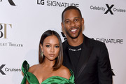 Karrueche Tran and Victor Cruz attend the American Ballet Theatre 2019 Fall Gala at David H. Koch Theater at Lincoln Center on October 16, 2019 in New York City.
