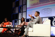 Star Jones, Gabrielle Union, Aja Naomi King, and Nate Parker attends The American Black Film Festival first look at 'A Birth Of A Nation' on June 17, 2016 in Miami Beach, Florida.
