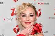 Elisabeth Rohm  poses backstage during The American Heart Association's Go Red for Women Red Dress Collection 2019 at Hammerstein Ballroom on February 7, 2019 in New York City.