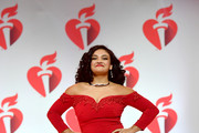 Laurie Hernandez walks the runway for The American Heart Association's Go Red For Women Red Dress Collection 2019 Presented By Macy's at Hammerstein Ballroom on February 7, 2019 in New York City.