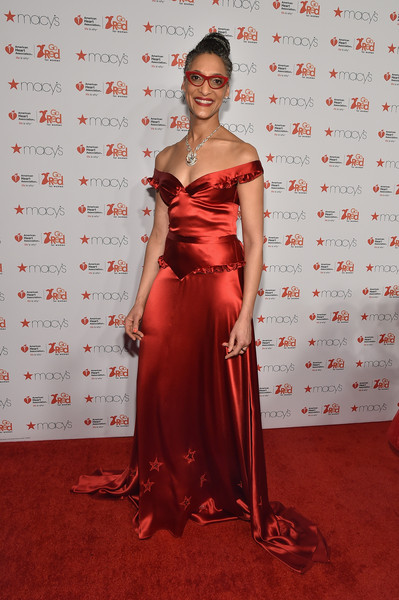 Chef Carla Hall attends the Go Red For Women Red Dress Collection 2015 presented by Macy's fashion show during Mercedes-Benz Fashion Week Fall 2015 at Lincoln Center on February 12, 2015 in New York City.