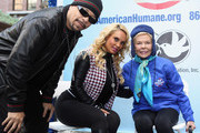Ice-T, Coco Austin and Lois Pope attend America Salutes Four-Legged Military Heroes During 2014 Veterans Day Parade on November 11, 2014 in New York City.