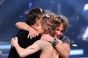 """(L-R) American Idol Judges Harry Connick Jr., Jennifer Lopez and Keith Urban onstage during Fox's """"American Idol"""" XIII Finale at Nokia Theatre L.A. Live on May 21, 2014 in Los Angeles, California."""