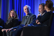 President of Dwell Media Michela O'Connor Abrams, New York Magazine Publisher Larry Burstein, Paul Rossi President of Global Media Business at The Economist Group and Managing Editor and News Anchor for Bloomberg Television Stephanie Ruhle speak onstage at the American Magazine Media Conference at Grand Hyatt New York on February 1, 2016 in New York City.