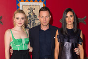 """(L-R) Dakota Fanning, Ewan McGregor and Jennifer Connelly attends a photocall for """"American Pastorial"""" at the Ham Yard Hotel on October 7, 2016 in London, England."""