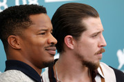 "Director Nate Parker and Theo Rossi attends ""American Skin"" photocall during the 76th Venice Film Festival at Sala Grande on September 01, 2019 in Venice, Italy."