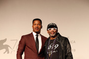 """Nate Parker and Spike Lee walk the red carpet ahead of the """"American Skin"""" screening during the 76th Venice Film Festival at Sala Giardino on September 01, 2019 in Venice, Italy."""