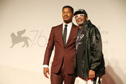 """Director Nate Parker and Spike Lee walk the red carpet ahead of the """"American Skin"""" screening during the 76th Venice Film Festival at Sala Giardino on September 01, 2019 in Venice, Italy."""
