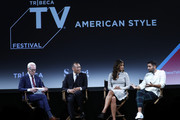 """Joe Zee and Veronica Webb speak onstage at the """"American Style"""" Premiere Panel during the 2018 Tribeca TV Festival at Spring Studios on September 23, 2018 in New York City."""