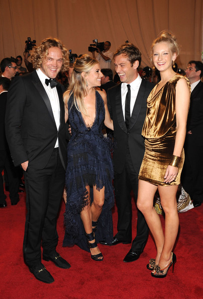 (L-R) Designer Peter Dundas, actress Sienna