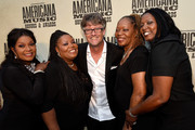 Regina and Deborah McCrary, Americana Music Association Executive Director Jed Hilly, and Ann and Alfreda McCrary of the McCrary Sisters attend the 14th annual Americana Music Association Honors and Awards Show at the Ryman Auditorium on September 16, 2015 in Nashville, Tennessee.
