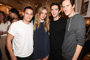 Actor Rafi Gavron, Elizabeth Gilpin, Ethan Peck and guest attend the Amour Vert x Swith Boutique celebration at Switch Boutique on March 26, 2015 in Beverly Hills, California.