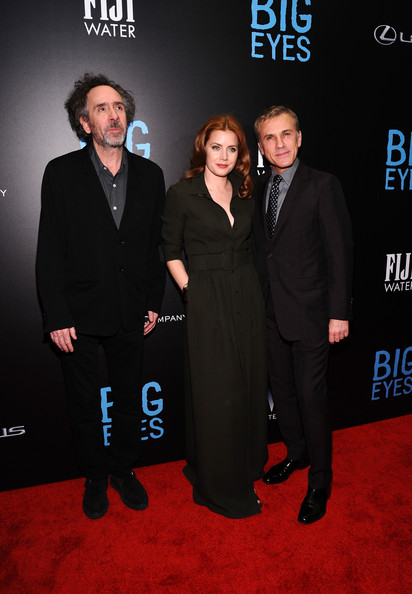 'Big Eyes' Premieres in NYC — Part 2 [premiere,carpet,suit,event,formal wear,red carpet,tuxedo,flooring,tim burton,actors,amy adams,christoph waltz,fiji water present,eyes,l-r,weinstein company,the new york,premiere]