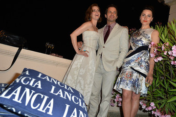 Amy Adams Zack Snyder Celebrities At The Lancia Cafe - Day 1 - Taormina Filmfest 2013