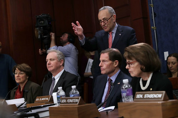 Amy Klobuchar Senate Democrats Discuss Protecting Children From Gun Violence With Survivors And Victims Of Attacks