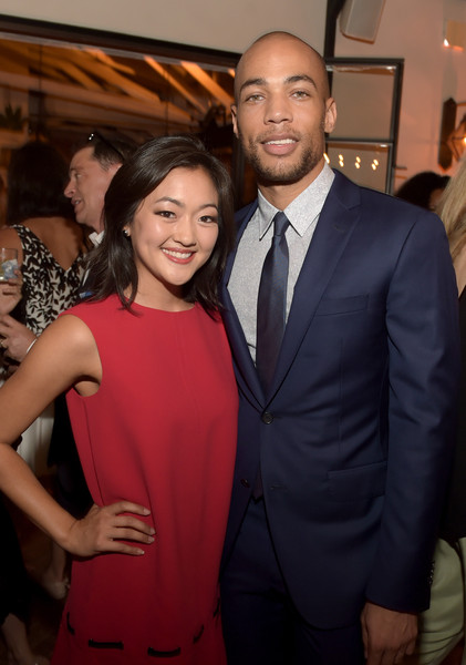 Celebration of ABC's TGIT Line-up Presented by Toyota and Co-hosted by ABC [suit,event,fashion,formal wear,dress,smile,premiere,tuxedo,flooring,style,line-up,actors,people,essence and people - inside,tgit,abc,time inc.,toyota,entertainment weekly,celebration]