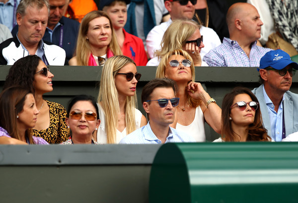 Day Eleven: The Championships - Wimbledon 2019 [people,social group,product,crowd,event,fun,fan,team,photography,audience,rafael nadal,ana maria parera,girlfriend,sister,xisca perello,maria isabel nadal,l-r,spain,all england lawn tennis and croquet club,wimbledon]