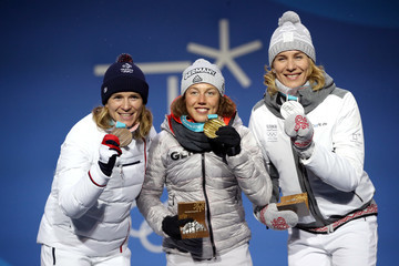 Anais Bescond Medal Ceremony - Winter Olympics Day 4
