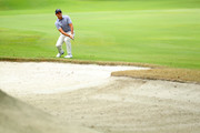 Matteo Manassero of Italy plays his second shot on the 7th hole during day one of the Andalucia Valderrama Masters at Real Club Valderrama on October 18, 2018 in Cadiz, Spain.