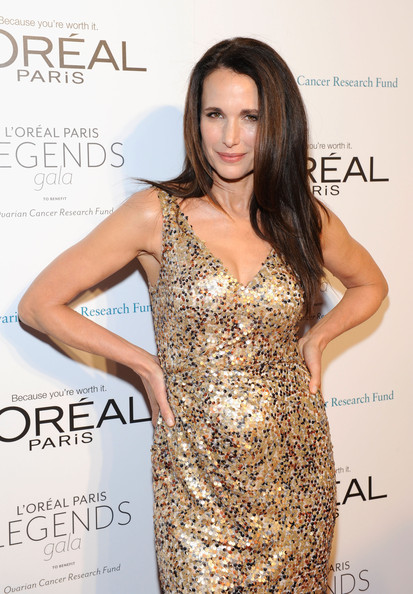Andie MacDowell Andie Macdowell attends  L'Oreal Legends Gala to Benefit Ovarian Cancer Research Fund at American Museum of Natural History on November 2, 2011 in New York City.