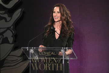 Andie MacDowell L'Oreal Paris Women of Worth Celebration 2017 - Inside