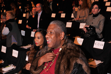 Andre Leon Talley Dennis Basso - Front Row - Mercedes-Benz Fashion Week Fall 2014