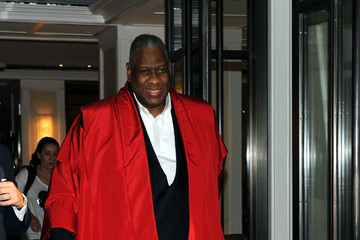 Andre Leon Talley Met Gala 2015 Departures From The Mark Hotel - NYC