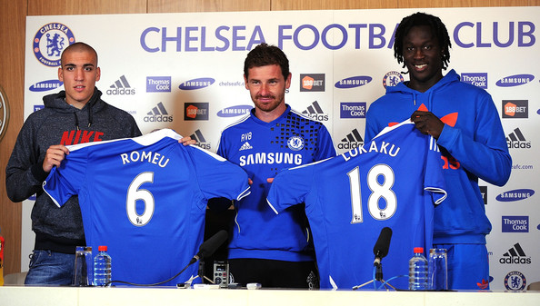 Andre Villas Boas and Romelu Lukaku - Chelsea New Signings