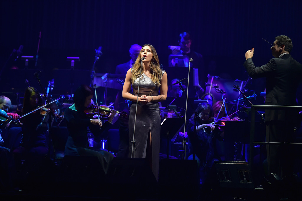 Katharine Mcphee Photos Photos Andrea Bocelli Performs In Concert New York New York Zimbio