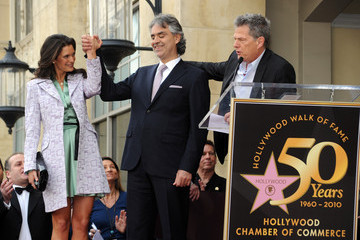 Andrea Bocelli David Foster Andrea Bocelli Honored On The Hollywood Walk Of Fame