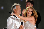 Celine Dion and Andrea Bocelli Photos Photo
