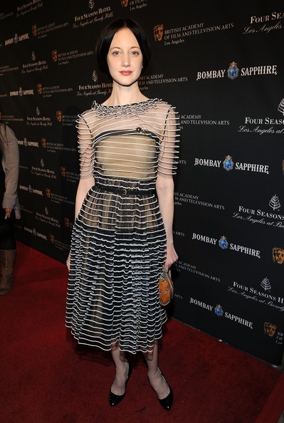 Actress Andrea Riseborough attends the BAFTA Los Angeles Awards Season Tea in Association with The Four Seasons and Bombay Sapphire at the Four Seasons ...