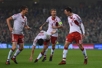 Andreas Bjelland Republic of Ireland v Denmark - FIFA 2018 World Cup Qualifier Play-Off: Second Leg