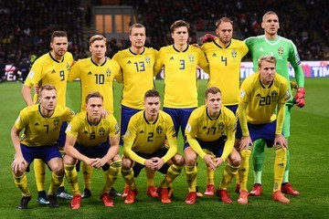 Andreas Granqvist Emil Forsberg Italy v Sweden - FIFA 2018 World Cup Qualifier Play-Off: Second Leg